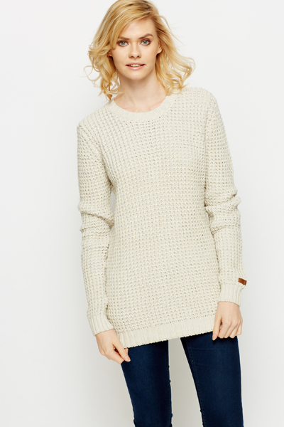 Heavy Knit Perforated Jumper