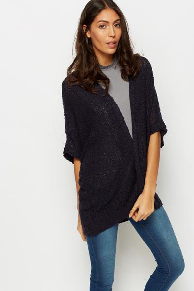 Open Knit Batwing Cardigan