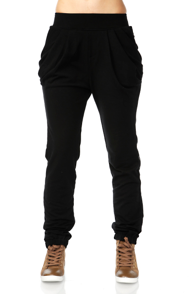 Draped Pockets Fleece Trousers