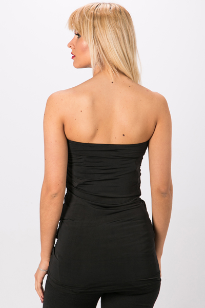 Ruched Bandeau Top