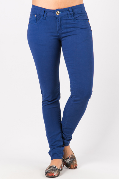 Gold Button Blue Trousers