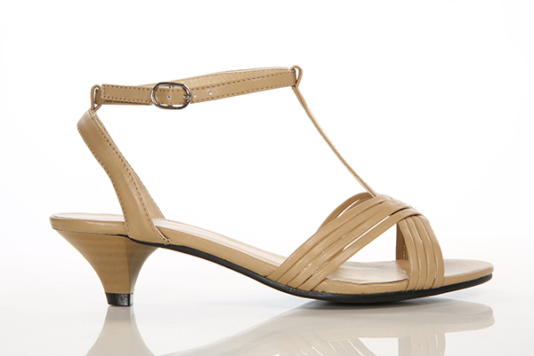 T-Bar Pump Heel Sandals