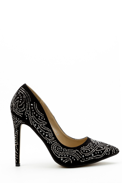 Studded Pattern Court Shoes