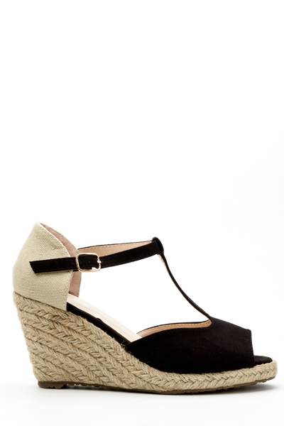 Braid Wedge Sandal Heels