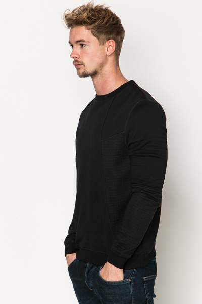 Textured Panel Sweatshirt