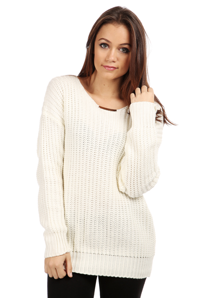 Small Gold Tab Collar Jumper