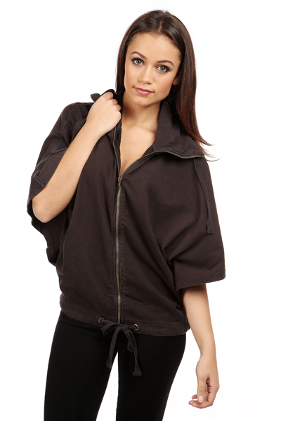 Batwing Sleeve Casual Jacket