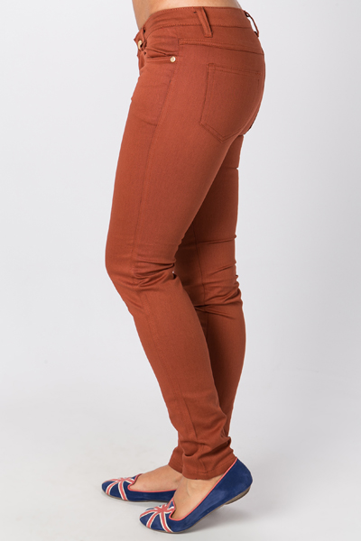 Cotton Blend Stretch Trousers