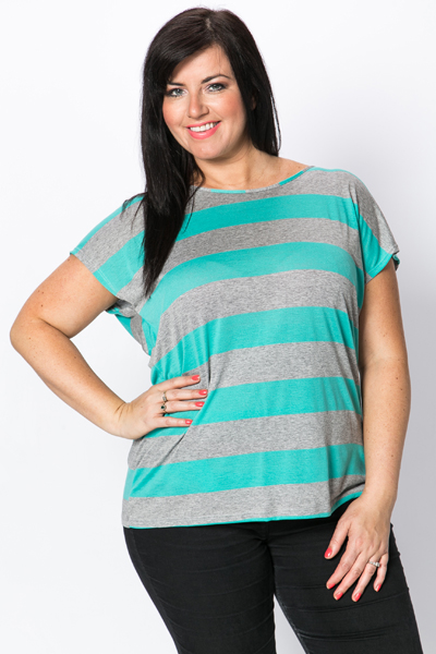 Cut-Out Back Striped Jersey Top