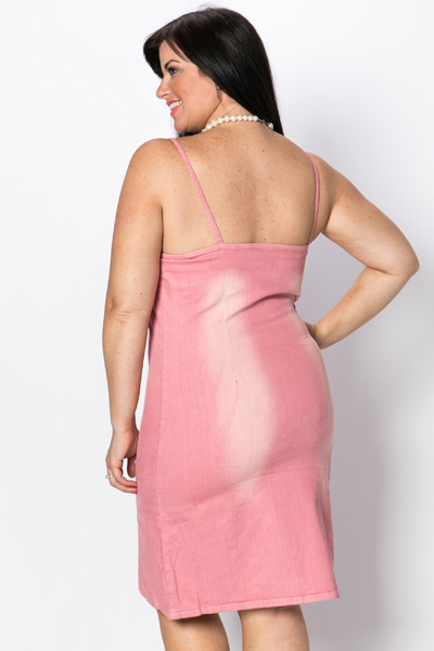 Faded Denim Pink Dress