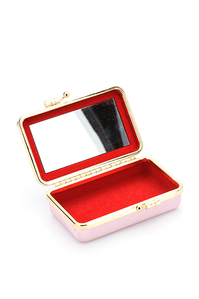 Encrusted Union Jack Compact Mirror Make-Up Case