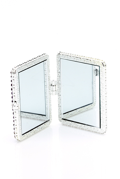 Encrusted Two Tone Make-Up Mirror
