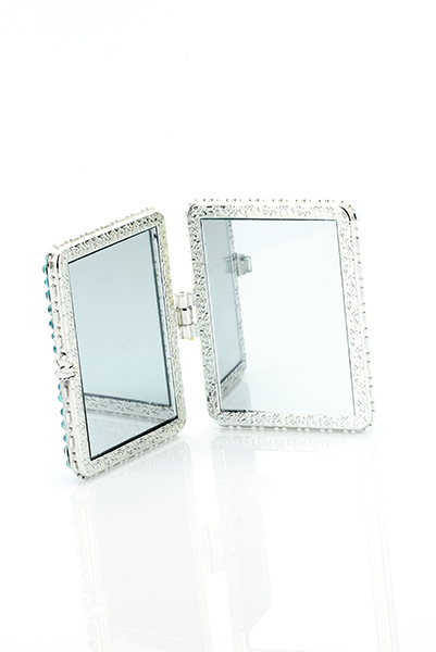 Encrusted Pearl Design Make-Up Mirror