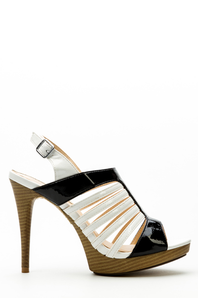 01cc15477bf Two Tone Slingback Sandal Heels - Just £5