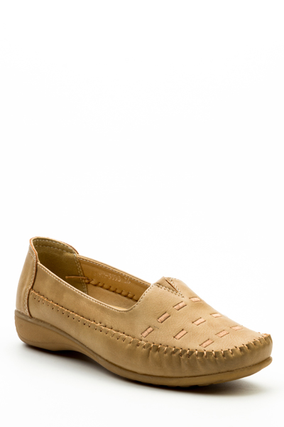 Ruched Trim Casual Loafers