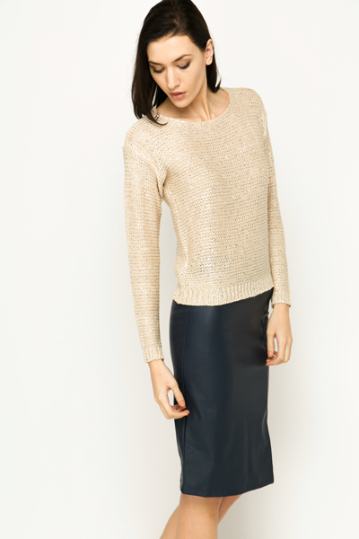 Sequin Pullover