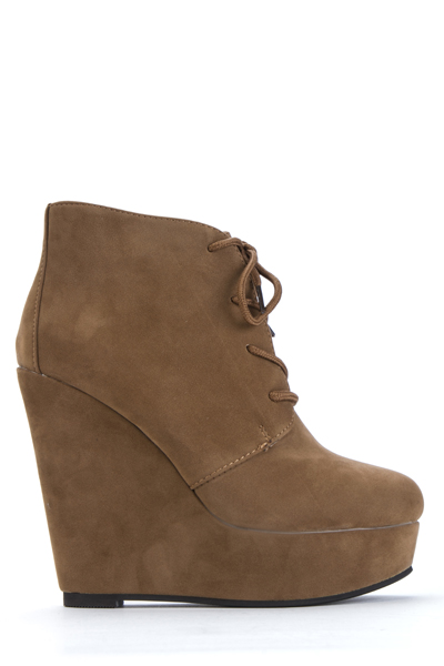 3dc95781805 Lace Up Wedge Ankle Boots