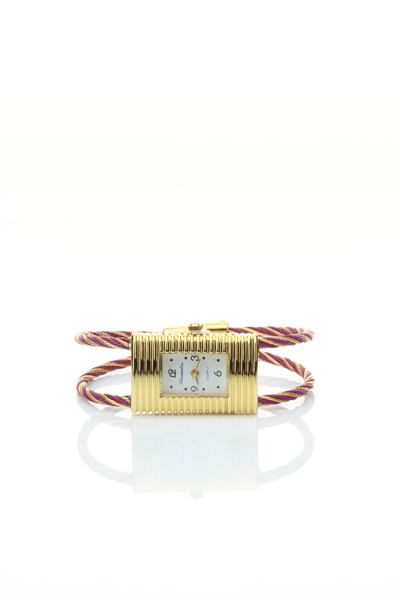 Rectangular Face Metal Braid Watch