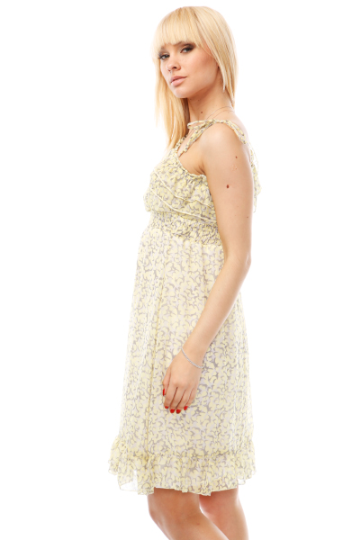 Bokeh Pattern One Shoulder Dress