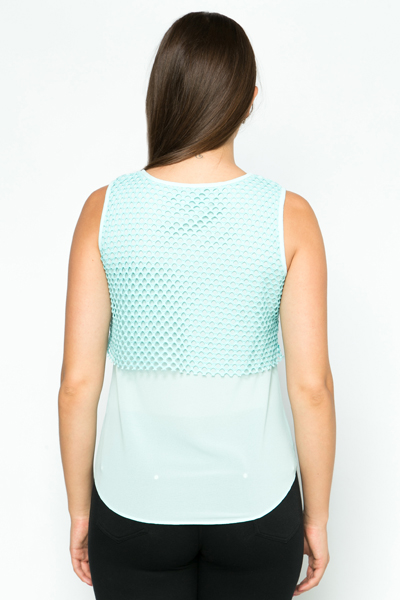 Layered Zipper Trim Top