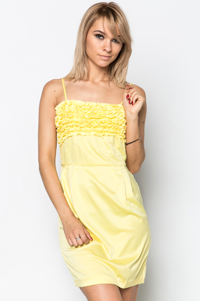 Ruffle & Stitch Trim Dress