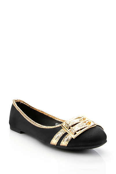 Metallic Buckle Straps Flats