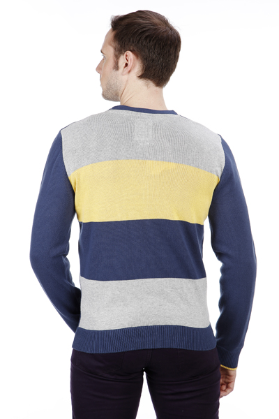 Stripe Back Button Front Cardigan