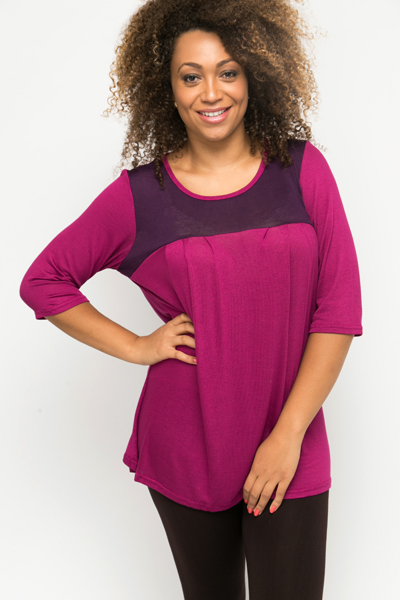 Colour Block Pleat Tunic