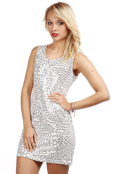 Sequin Geo Pattern Dress