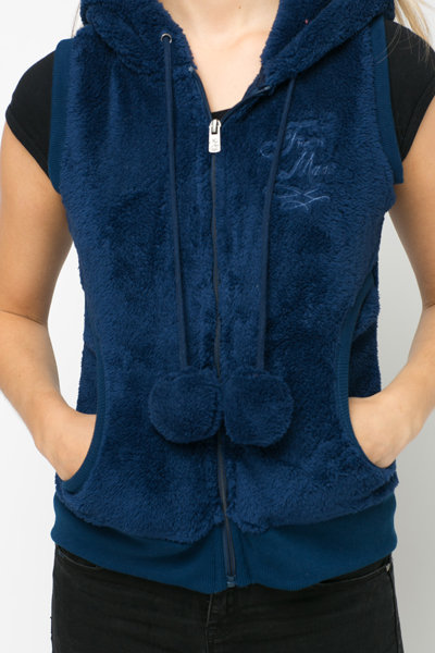Soft Fleece Animal Ear Gilet