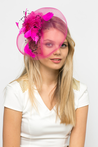 Bead   Feather Embellished Net Fascinator - Just £5 7d681762a76