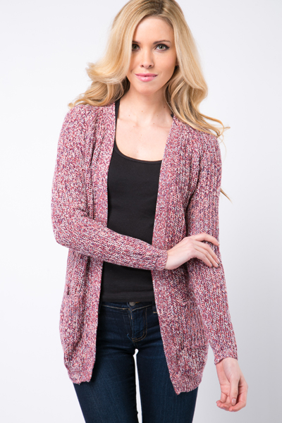 Speckled Knit Longline Cardigan