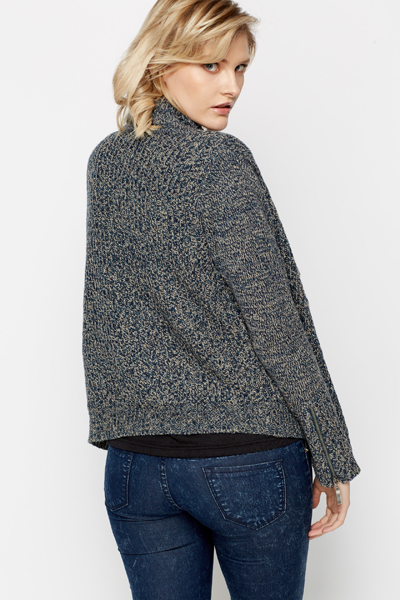 Shawl Collar Speckled Cardigan