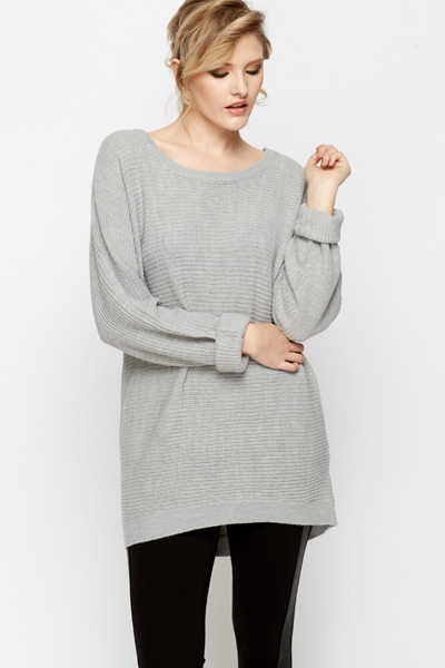 Ribbed Oversized Jumper