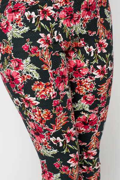 Rose Print Treggings