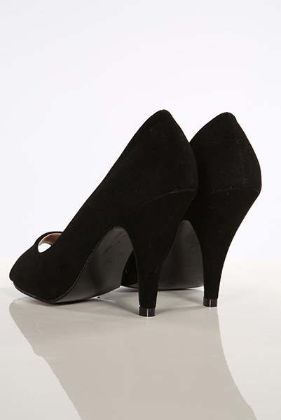 Suedette Classic Peep Toe Shoes
