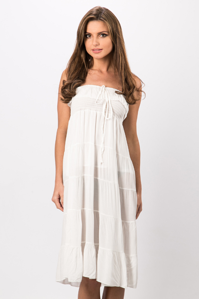 Halterneck Frill Trim Dress