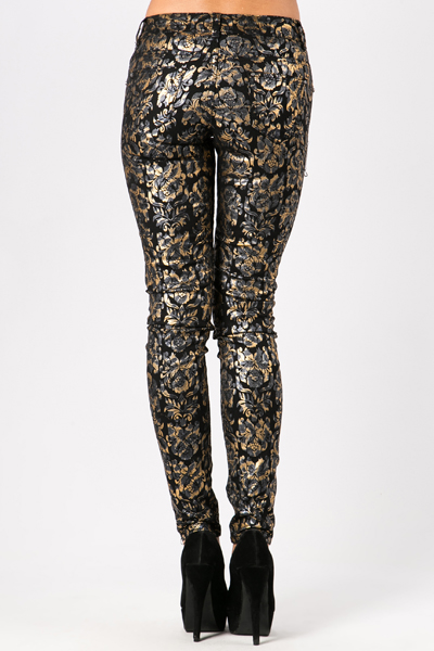 Metallic Ornate Trousers