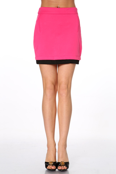 Contrast Trim Mini Skirt