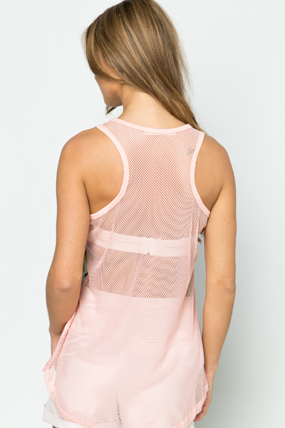 Tropical Mesh Sports Top