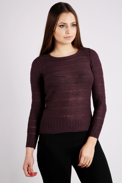Stripe Garter Knit Jumper