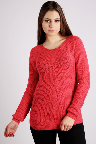Cable & Braid Mix Knit Jumper