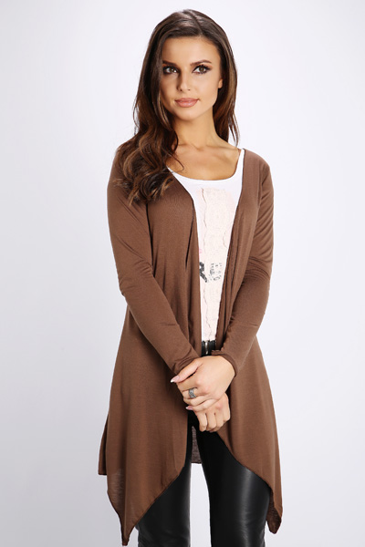 Basic Open Front Waterfall Cardigan
