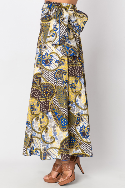 Multi Paisley Maxi Skirt