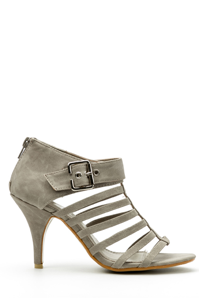 Buckle Side Gladiator Sandal Heels
