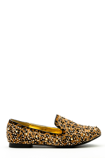 Encrusted Slip-On Flats