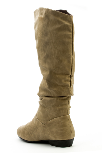Ruched Knee High Boots