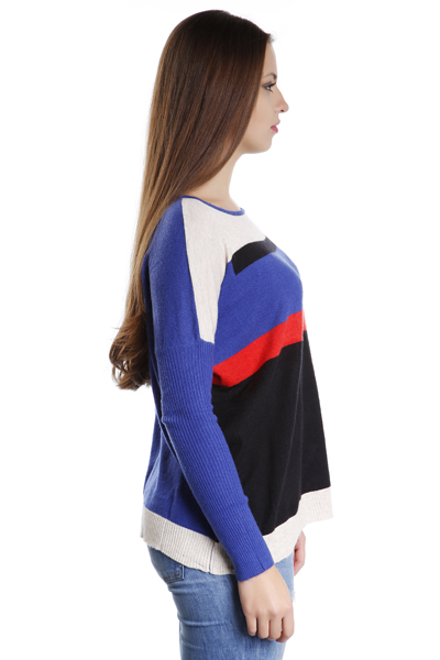 Multicoloured Fitted Sleeves Jumper