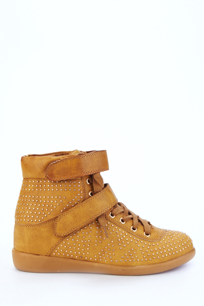 Stud Embellished Hi-Top Trainers
