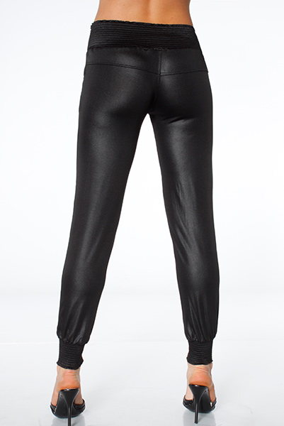 Wet Leather Look Trousers